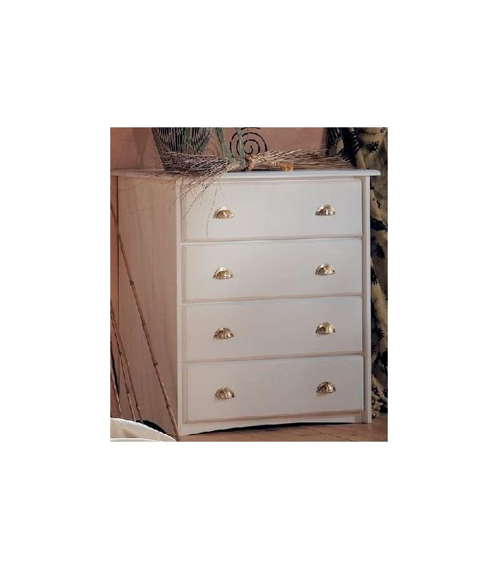 Commode c deco for Meuble tiroir osier blanc