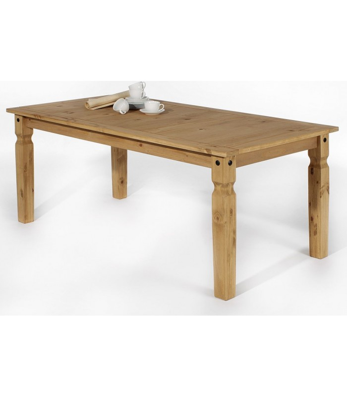 Table en pin massif cir style mexicain for Table cuisine pin massif
