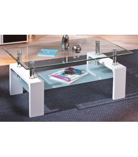 "Table basse verre ""ALVA"""