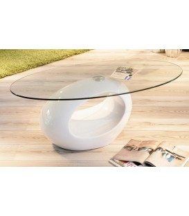 "Table basse verre ovale ""PUCCI"""
