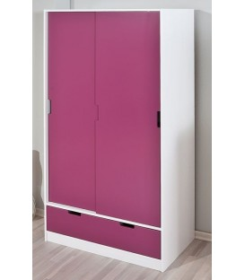"Armoire 2 portes coulissantes ""CHARLENE"""