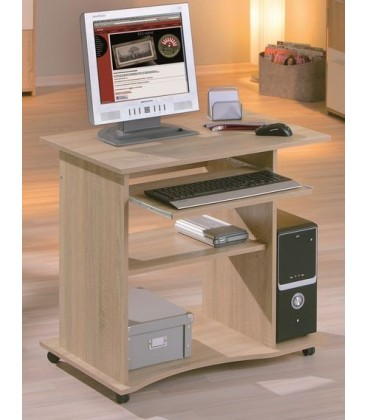 Petit bureau informatique simple et moderne for Petit meuble informatique design