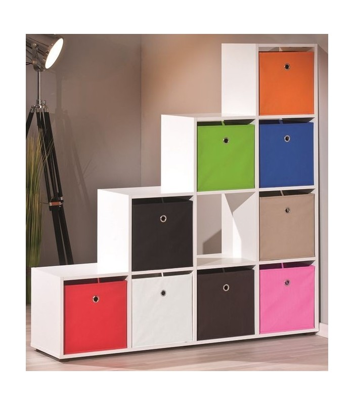 146 meuble de rangement case meuble de rangement 4 cases 1 tiroir blanc achat meuble de. Black Bedroom Furniture Sets. Home Design Ideas