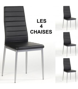 "Lot de 4 chaises ""NATHALIE"""