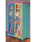 "Armoire 2 portes en pin ""GRAFFITI"""
