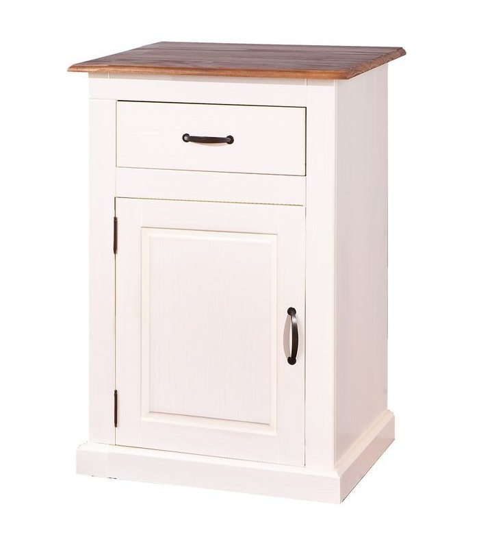 Confiturier 1 porte en pin massif bicolore for Meuble 1 porte bois