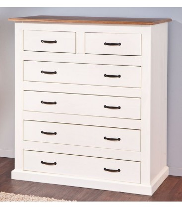 "Commode 4+2 tiroirs en pin ""CASSALA 2-2"""