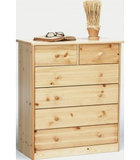 "Commode 4+2 tiroirs en pin ""GENE"""