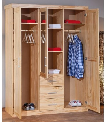 "Armoire en pin 3 portes ""PAUL 3G"""