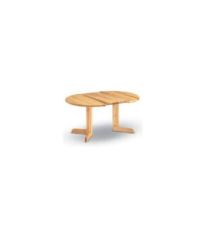Table Ronde En Pin Massif Scandinave Avec Allonge
