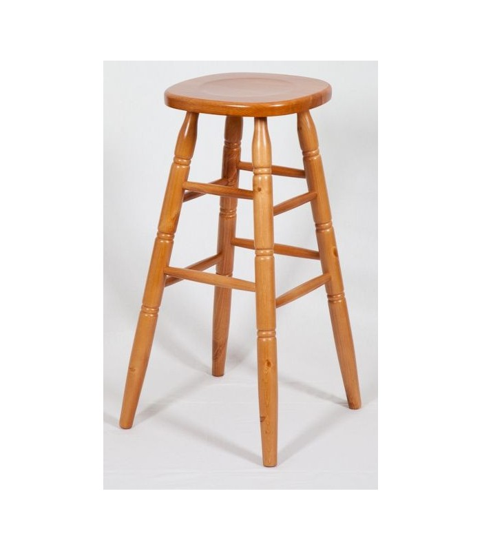 Tabouret en pin massif - Tabouret de bar en pin ...
