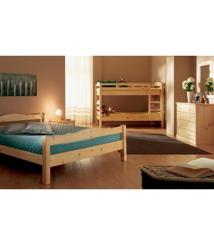Lits superpos s en pin massif dissociables style scandinave - Lit superpose en pin ...